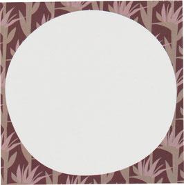 Block Palmblätter, aubergine, 50 Blatt (9,8 x 9,8 cm)