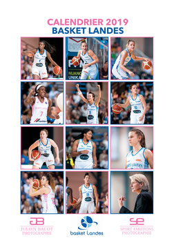 Calendrier Mural 2019 - Basket Landes