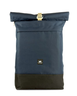 Courier Bag - blue/beige