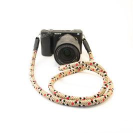 Kameragurt beige gemustert - Camerastrap beige patterned