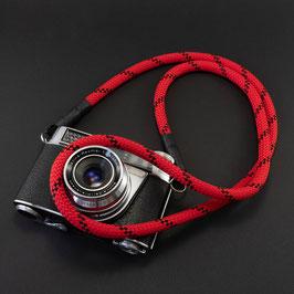 Kameragurt rot/schwarz - Camerastrap red/black
