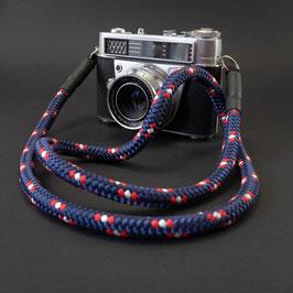 Kameragurt blau gemustert - Camerastrap blue patterned