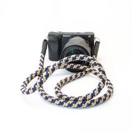 Kameragurt beige blau - Camerastrap beige blue