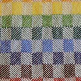 Handtuch / Geschirrtuch Köper regenbogenfarben