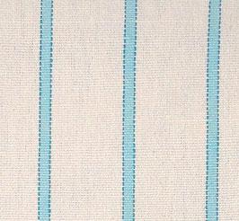 Handtuch / Geschirrtuch weiß hellblau-gestreift