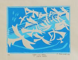 Vögel und Blau nach H. Matisse
