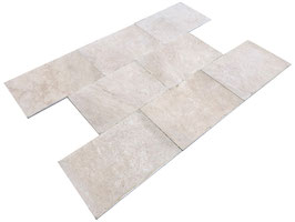 Fliese Travertin Miletos, 40 x 60 x 1,2 cm, getrommelt, m²