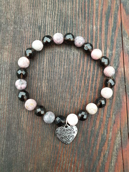 LOVE IS THE WAY Armband GRANDMOTHER rosa