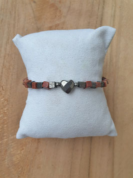 LOVE IS THE WAY Armband Pyrit Herz
