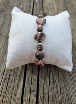 CANDY GIRL Armband Rhodonit Herz
