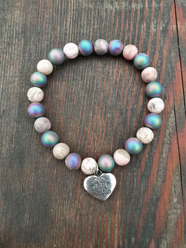 LOVE IS THE WAY Armband Druzy FRIEND Anhänger