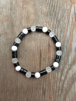 BLACK&WHITE Armband Asymmetrie