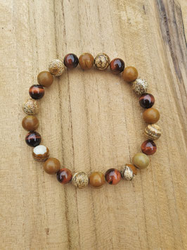 NATURE'S WAY Armband dunkles Steinholz