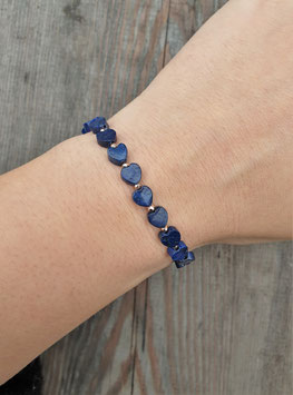 LOVE IS THE WAY Armband Blue Hearts