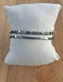 SHINE BRIGHT Armband Set metallic olive