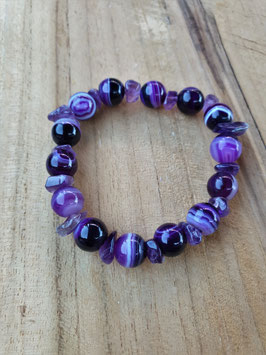 COLOUR YOUR LIFE Armband Purple Stones
