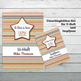 """Set """" A Star ist born"""" für U-Heft und Impfpass"""