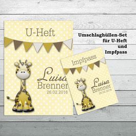 """Hüllen-Set für U-Heft und Impfpass """"Giraffe"""""""