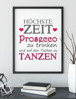 """Kunstdruck """"Zeit für Prosecco"""""""