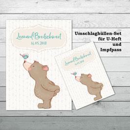 """Hüllen-Set für U-Heft und Impfpass """"Bär"""""""