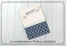 """Mutterpasshülle """"blau und rot"""""""