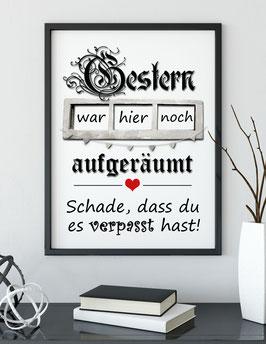 "Kunstdruck ""Aufgeräumt"""