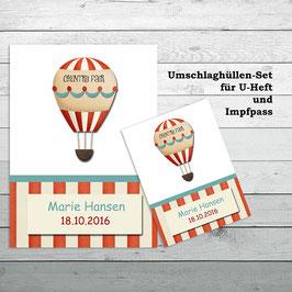 """Set """"Ballon"""" für U-Heft und Impfpass"""
