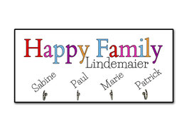 "Schlüsselbrett ""Happy Family"""