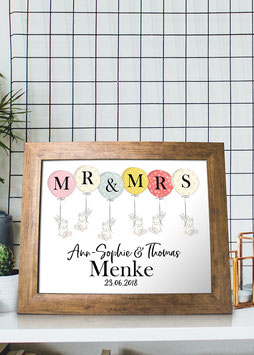"Kunstdruck ""Mr. & Mrs. Hasen"""