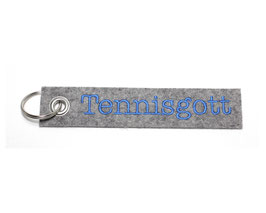 "Schlüsselanhänger ""Tennisgott"""