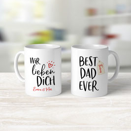 "Tasse ""Best Dad ever"""
