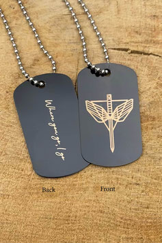 Angels Of shield + Quote Keychain