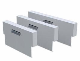 Muur geplaatst op vijver - aluminium of cortenstaal