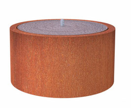 Watertafel rond - corten