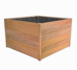 Hardhouten plantenbak SEVILLA - recht zonder rand (duurzaamheidsklasse 1)