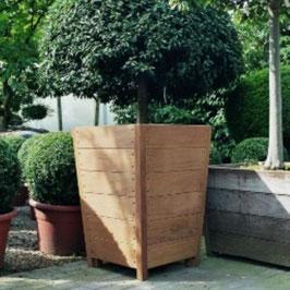 Hardhouten plantenbak SEVILLA (taps)