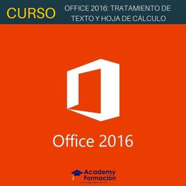 OFERTA! Curso Online de Office 2016: Tratamiento de Texto y Hoja de Cálculo + Titulación Certificada