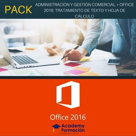 OFERTA! Cursos Online de Administración y Gestión Comercial + Office 2016: Tratamiento de Texto y Hoja de Cálculo. Titulaciones Incluidas.