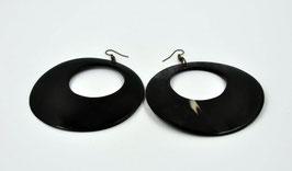 Grandes créoles - noir