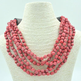 Collier Jaëlle 6 rangs - Poppy red