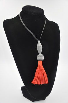 Collier Tassel rouge