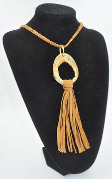 Collier Amazone brun