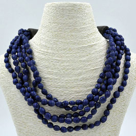 Collier Jaëlle 6 rangs - Iris blue