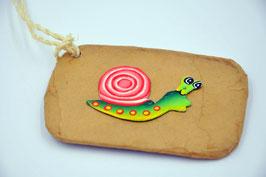 Étiquette pour bagage Escargot