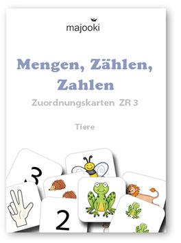 Mengen, Zählen, Zahlen - Zuordnungskarten ZR3 - Tiere
