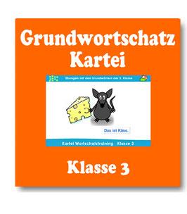 Lernkartei Deutsch Grundwortschatz der Klasse 3 - Wortschatzarbeit