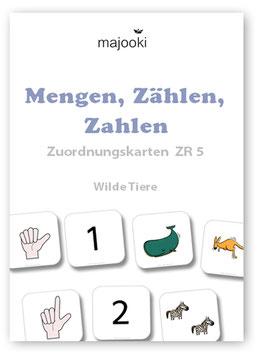 Mengen, Zählen, Zahlen - Zuordnungskarten ZR5 - Wilde Tiere