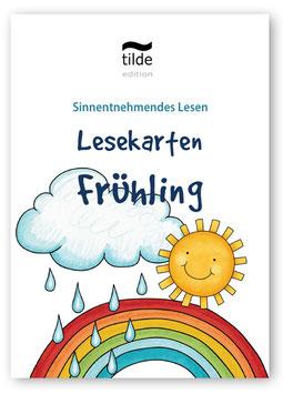 Frühling: Lesekarten für die Bild-Satz-Zuordnung