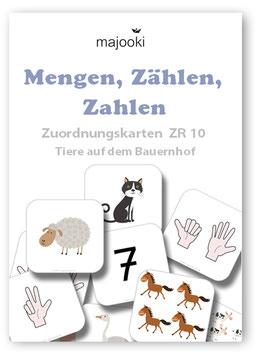 Mengen, Zählen, Zahlen - Zuordnungskarten ZR10 - Tiere auf dem Bauernhof