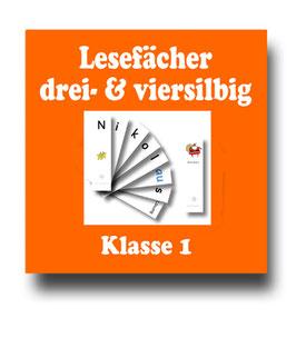 Lesefächer - drei- & viersilbige Wörter - Erstlesen & Erstschreiben fördern